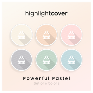 Instagram Highlight Cover Hut-winter / Hat-winter In 6 verschiedenen Powerful Pastel Farben