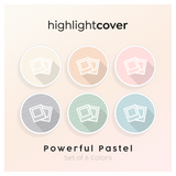 Instagram Highlight Cover Polaroids In 6 verschiedenen Powerful Pastel Farben