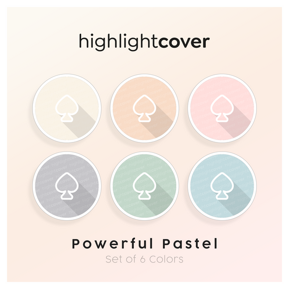 Instagram Highlight Cover Pik / Spade In 6 verschiedenen Powerful Pastel Farben