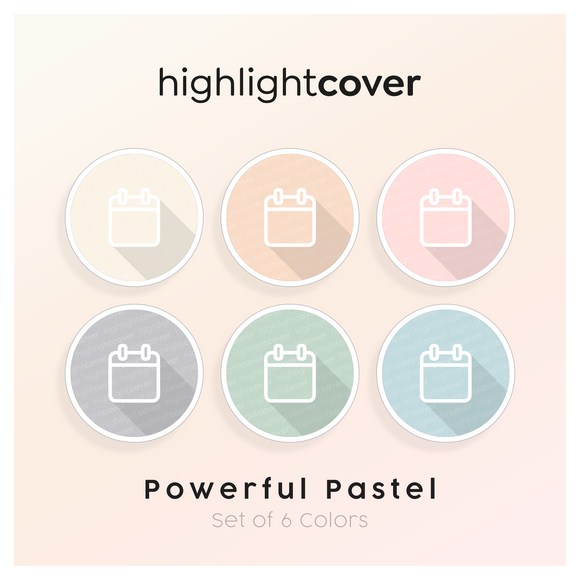 Instagram Highlight Cover Kalender / Calendar In 6 verschiedenen Powerful Pastel Farben
