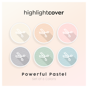 Instagram Highlight Cover Schnitt / Cut In 6 verschiedenen Powerful Pastel Farben