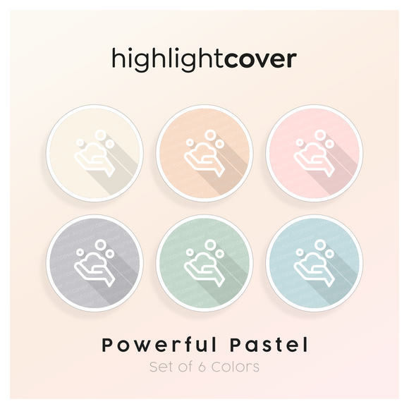Instagram Highlight Cover Waschen-haende-seife / Wash-hands-soap In 6 verschiedenen Powerful Pastel Farben