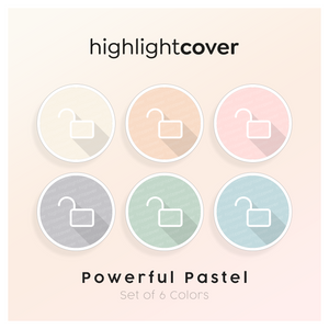 Instagram Highlight Cover Schloss-offen / Lock-open In 6 verschiedenen Powerful Pastel Farben