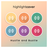 Instagram Highlight Cover Kurzhantel / Dumbbell In 6 verschiedenen Hustle and Bustle Farben