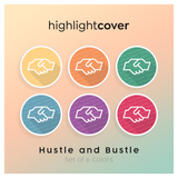 Instagram Highlight Cover Händedruck-alt / Handshake-alt In 6 verschiedenen Hustle and Bustle Farben
