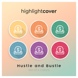Instagram Highlight Cover Spenden / Donate In 6 verschiedenen Hustle and Bustle Farben