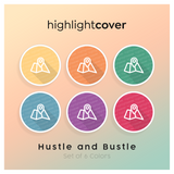 Instagram Highlight Cover Karte / Map In 6 verschiedenen Hustle and Bustle Farben