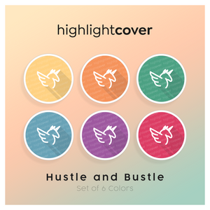 Instagram Highlight Cover Alicorn In 6 verschiedenen Hustle and Bustle Farben