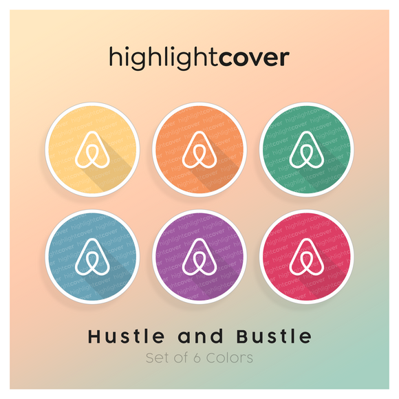 Instagram Highlight Cover Airbnb In 6 verschiedenen Hustle and Bustle Farben