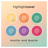 Instagram Highlight Cover Sonne / Sun In 6 verschiedenen Hustle and Bustle Farben