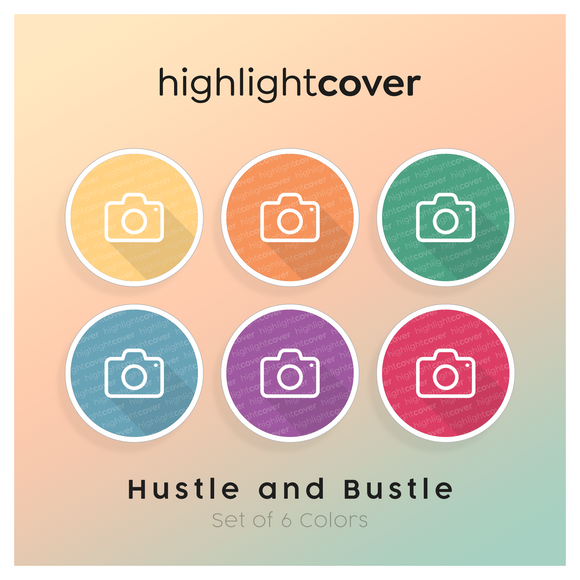 Instagram Highlight Cover Kamera / Camera In 6 verschiedenen Hustle and Bustle Farben