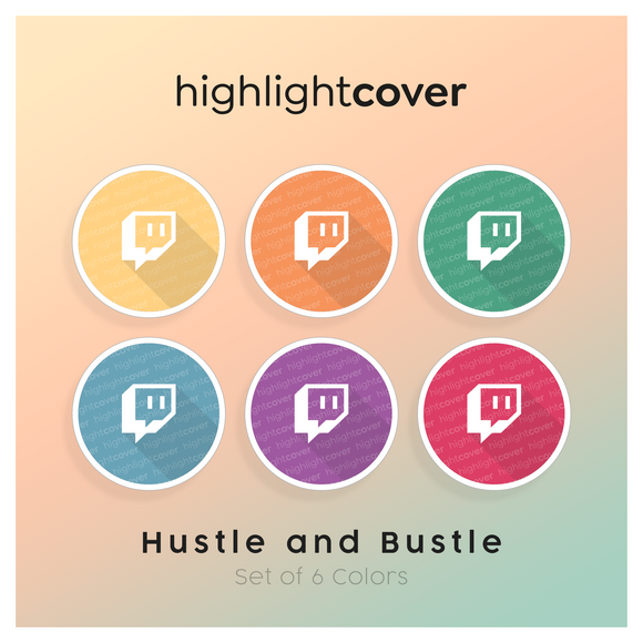 Instagram Highlight Cover Twitch In 6 verschiedenen Hustle and Bustle Farben