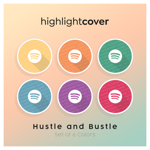 Instagram Highlight Cover Spotify In 6 verschiedenen Hustle and Bustle Farben
