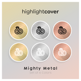Instagram Highlight Cover Ring-hochzeit / Rings-wedding In 6 verschiedenen Mighty Metal Farben