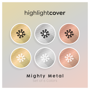 Instagram Highlight Cover Virus In 6 verschiedenen Mighty Metal Farben