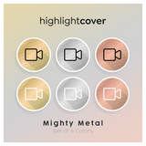 Instagram Highlight Cover Video In 6 verschiedenen Mighty Metal Farben