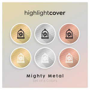 Instagram Highlight Cover Virus-eingedämmt / Virus-contained In 6 verschiedenen Mighty Metal Farben
