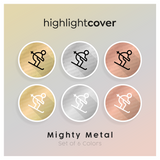 Instagram Highlight Cover Skifahren / Skiing In 6 verschiedenen Mighty Metal Farben