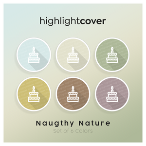Instagram Highlight Cover Geburtstagskuchen / Birthday-cake In 6 verschiedenen Naughty Nature Farben