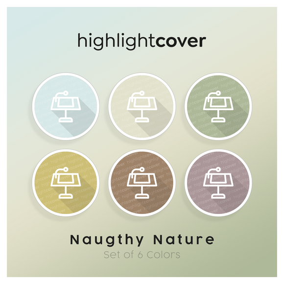 Instagram Highlight Cover Hauptredner / Keynote In 6 verschiedenen Naughty Nature Farben