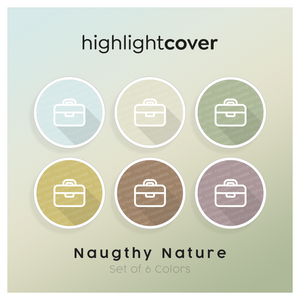 Instagram Highlight Cover Aktentasche / Briefcase In 6 verschiedenen Naughty Nature Farben