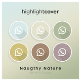 Instagram Highlight Cover Whatsapp In 6 verschiedenen Naughty Nature Farben