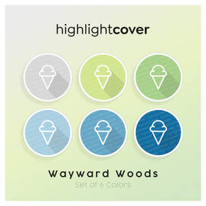 Instagram Highlight Cover Eiscreme / Ice-cream In 6 verschiedenen Wayward Woods Farben