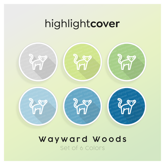 Instagram Highlight Cover Affe / Monkey In 6 verschiedenen Wayward Woods Farben