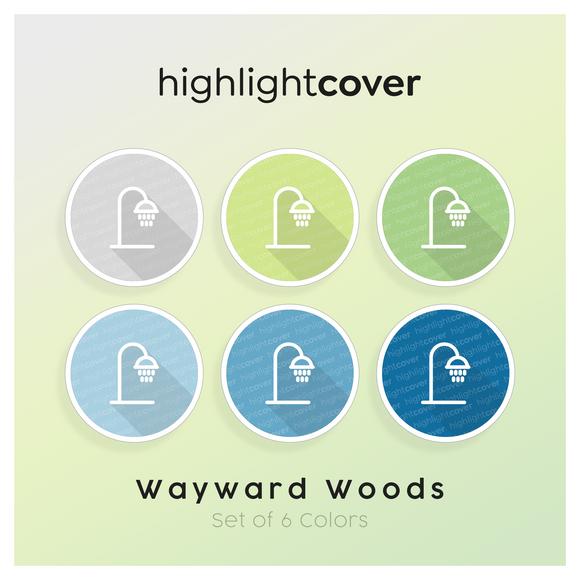 Instagram Highlight Cover Dusche / Shower In 6 verschiedenen Wayward Woods Farben