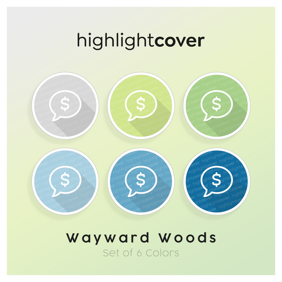 Instagram Highlight Cover Kommentar-dollar / Comment-dollar In 6 verschiedenen Wayward Woods Farben