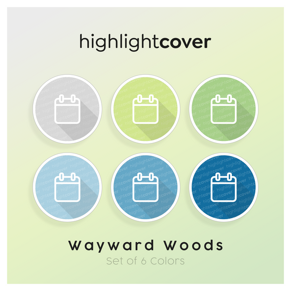 Instagram Highlight Cover Kalender / Calendar In 6 verschiedenen Wayward Woods Farben