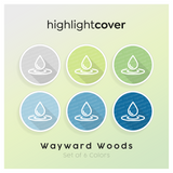 Instagram Highlight Cover Wasser-tropfen / Water-drop In 6 verschiedenen Wayward Woods Farben