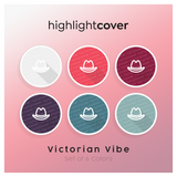 Instagram Highlight Cover Hut-cowboy / Hat-cowboy In 6 verschiedenen Victorian Vibe Farben