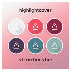 Instagram Highlight Cover Hut-winter / Hat-winter In 6 verschiedenen Victorian Vibe Farben