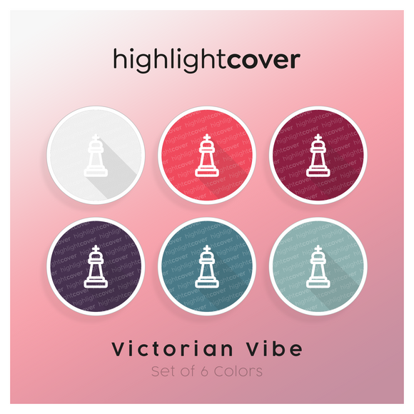 Instagram Highlight Cover Schach-king-alt / Chess-king-alt In 6 verschiedenen Victorian Vibe Farben