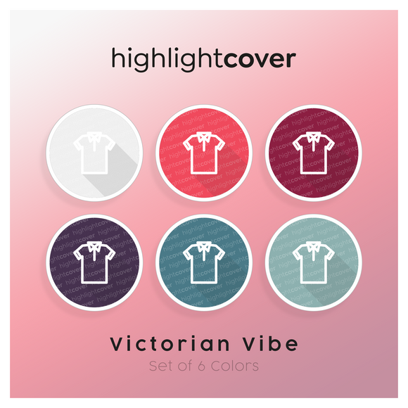 Instagram Highlight Cover Poloshirt In 6 verschiedenen Victorian Vibe Farben