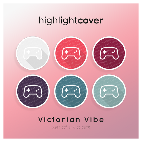 Instagram Highlight Cover Gamepad-alt In 6 verschiedenen Victorian Vibe Farben