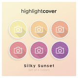 Instagram Highlight Cover Kamera / Camera In 6 verschiedenen Silky Sunset Farben