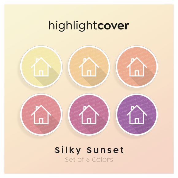 Instagram Highlight Cover Home-lg In 6 verschiedenen Silky Sunset Farben