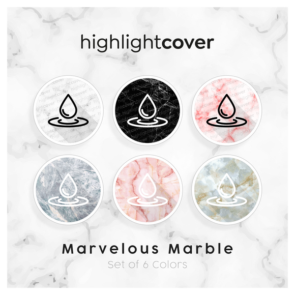 Instagram Highlight Cover Wasser-tropfen / Water-drop In 6 verschiedenen Marvelous Marble Farben