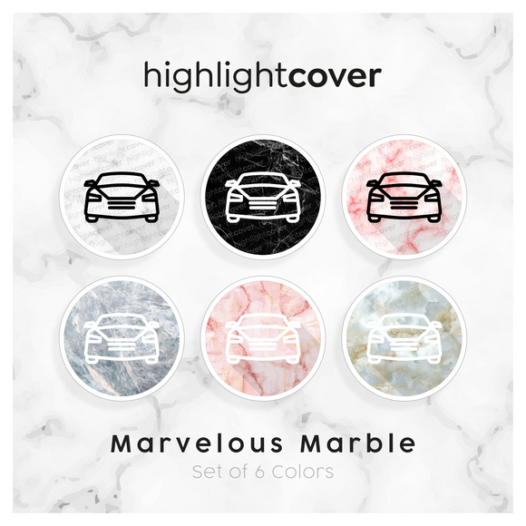 Instagram Highlight Cover Auto / Car In 6 verschiedenen Marvelous Marble Farben