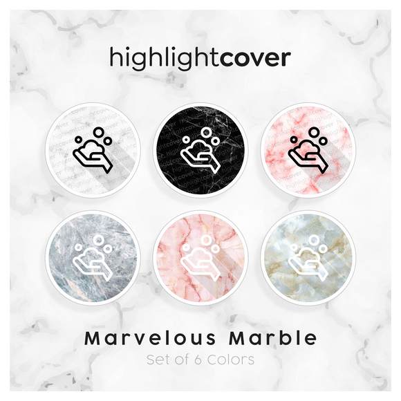 Instagram Highlight Cover Waschen-haende-seife / Wash-hands-soap In 6 verschiedenen Marvelous Marble Farben