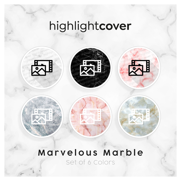 Instagram Highlight Cover Foto-video / Photo-video In 6 verschiedenen Marvelous Marble Farben