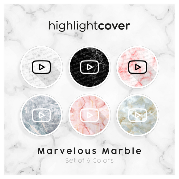 Instagram Highlight Cover Youtube In 6 verschiedenen Marvelous Marble Farben