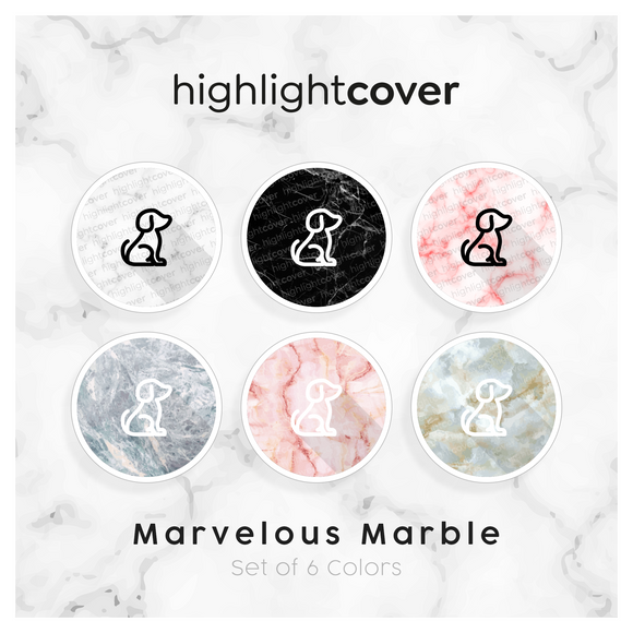 Instagram Highlight Cover Hund / Dog In 6 verschiedenen Marvelous Marble Farben