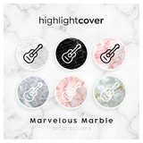 Instagram Highlight Cover Gitarre / Guitar In 6 verschiedenen Marvelous Marble Farben