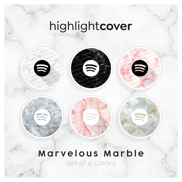 Instagram Highlight Cover Spotify In 6 verschiedenen Marvelous Marble Farben