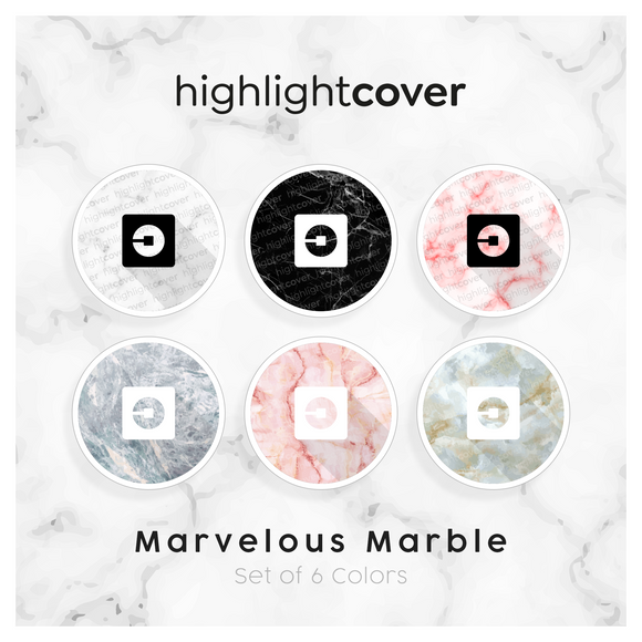 Instagram Highlight Cover Uber In 6 verschiedenen Marvelous Marble Farben