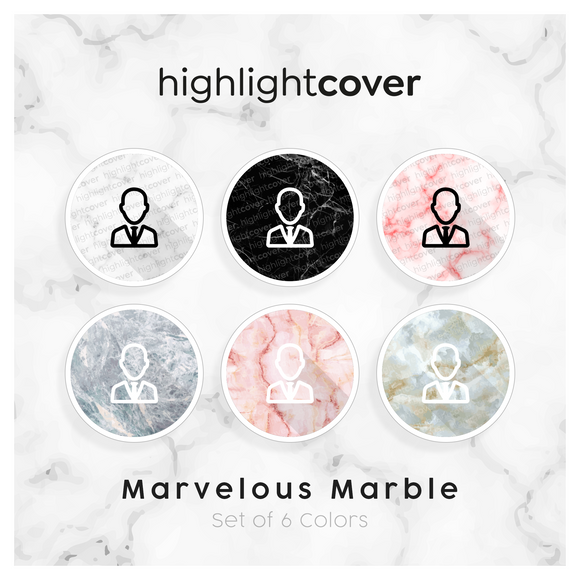 Instagram Highlight Cover Krawatte / User-tie In 6 verschiedenen Marvelous Marble Farben