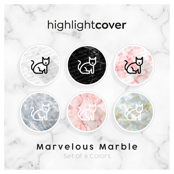 Instagram Highlight Cover Katze / Cat In 6 verschiedenen Marvelous Marble Farben